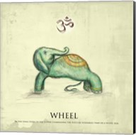 Elephant Yoga, Wheel Pose Fine-Art Print