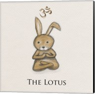 Bunny Yoga, The Lotus Pose Fine-Art Print
