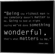 Richest Man Quote Fine-Art Print