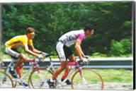 Jan Ullrich and Udo Bolts crossing the Vosges mountains together in the 1997 Tour de France Fine-Art Print