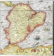Map of South America 1575 Fine-Art Print