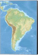 South America relief location map Fine-Art Print