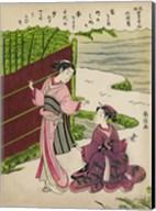 Two Geishas in a Bamboo Garden Fine-Art Print