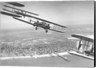 U.S. Army Air Corps Curtiss B-2 Condor bombers flying over Atlantic City Fine-Art Print