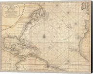 1683 Mortier Map of North America, the West Indies, and the Atlantic Ocean Fine-Art Print