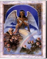 Black Angel with Rainbow Fine-Art Print