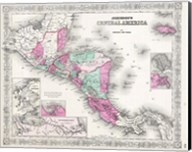1866 Johnson Map of Central America Fine-Art Print