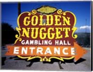 Golden Nugget historic casino sign in the Neon Boneyard, Las Vegas Fine-Art Print