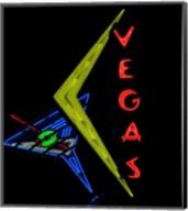 Historic Vegas neon sign, Freemont Street, Las Vegas Fine-Art Print