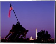 Iwo Jima Memorial at dusk, Washington, D.C. Fine-Art Print