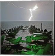 USS Lincoln Lightning Fine-Art Print