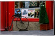 Old bicycle in front of a store, Kilkenny, Ireland Fine-Art Print