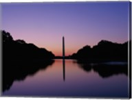 Silhouette of the Washington Monument, Washington, D.C., USA Fine-Art Print