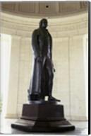Statue of Thomas Jefferson in a memorial, Jefferson Memorial, Washington DC, USA Fine-Art Print