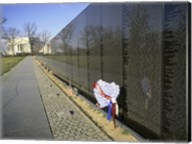 Close-up of a memorial, Vietnam Veterans Memorial Wall, Vietnam Veterans Memorial, Washington DC, USA Fine-Art Print