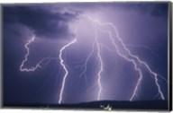 Lightning bolts striking the earth Fine-Art Print
