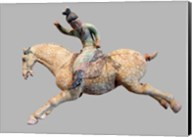 A ceramic female polo player, from northern China, Tang Dynasty Fine-Art Print