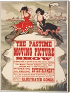 The Pastime moving picture show Fine-Art Print