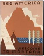 See America Welcome to Montana Fine-Art Print