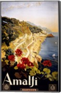 Amalfi, travel poster Fine-Art Print
