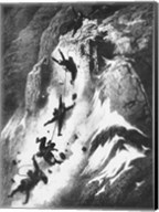 Matterhorn disaster Gustav Dore Fine-Art Print