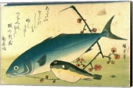 Hiroshige A Shoal of Fishes Fugu Yellowtail Fine-Art Print