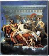 Jacques - Louis David Aphrodite Ares Graces Fine-Art Print