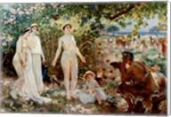 Judgment of Paris he goddesses Athena, Hera and Aphrodite Fine-Art Print