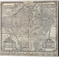 1652 Gomboust Map of Paris, France Fine-Art Print