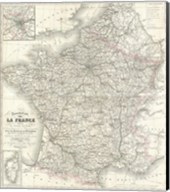 1852 Levasseur Map of France Fine-Art Print