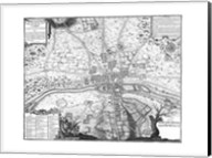 Plan de Paris - gray Fine-Art Print