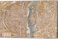 Plan de Paris map Fine-Art Print