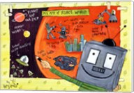 My Map of Robot World Fine-Art Print