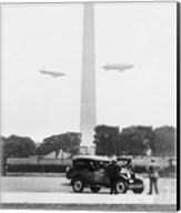 U.S. Army Blimps, Passing over the Washington Monument Fine-Art Print