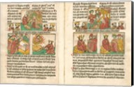 Spread from the Biblia Pauperum printed by Albrecht Pfister Fine-Art Print