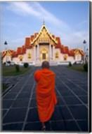 Buddhist Monk at a Temple Fine-Art Print