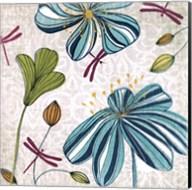 Flowers & Dragonflies Fine-Art Print