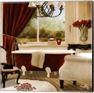 Red Chandelier Bath II Fine-Art Print