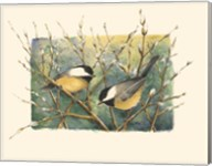 Chickadees and Pussy Willow Fine-Art Print