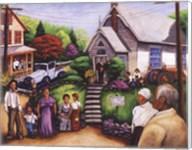 Country Church Service Fine-Art Print