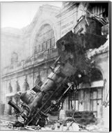 Train Wreck at Montparnasse 1895 Fine-Art Print