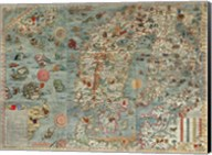 Carta Marina, Map of Scandinavia Fine-Art Print