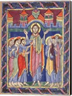 Albani Psalter, appearance of the Risen One on the eighth day Fine-Art Print
