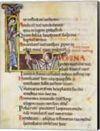 Initial L from Psalm 118, verse 109th In Albani Psalter Fine-Art Print