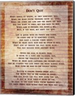 Don't Quit Poem Fine-Art Print