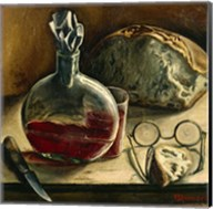 Still Life with Jug of Wine, Bread and Glasses Fine-Art Print