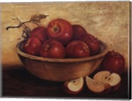Apples in Wood Bowl Fine-Art Print