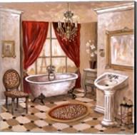 Leopard Parisian Bath Fine-Art Print