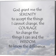 Serenity Prayer - clouds Fine-Art Print