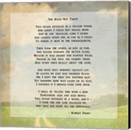 Robert Frost Road Less Traveled Poem Fine-Art Print